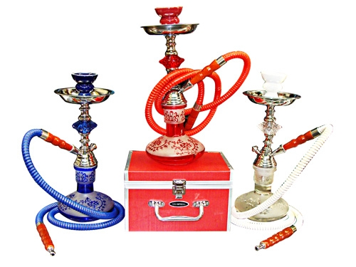 "Buy 1Get 1 FREE-15"" Fancy Base Hookah w/ Case #HK3"