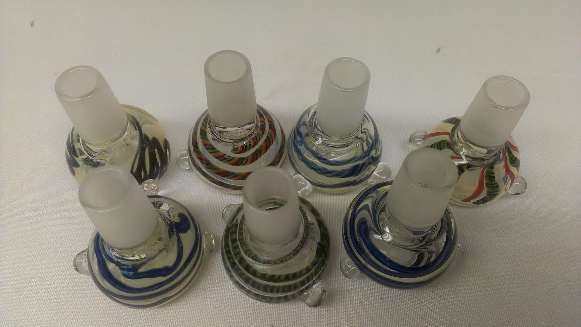 10 PK. 19mm color Glass on Glass Bowl #19CB10