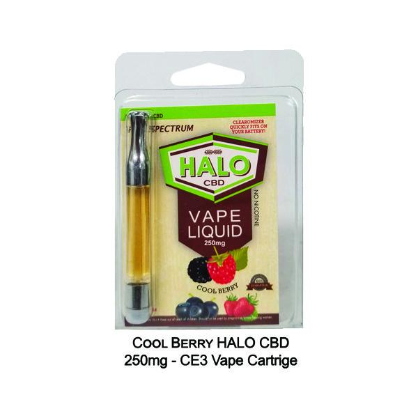 Halo 250mg. CBD CE3 Vape Cartridge with 510 Thread #H250