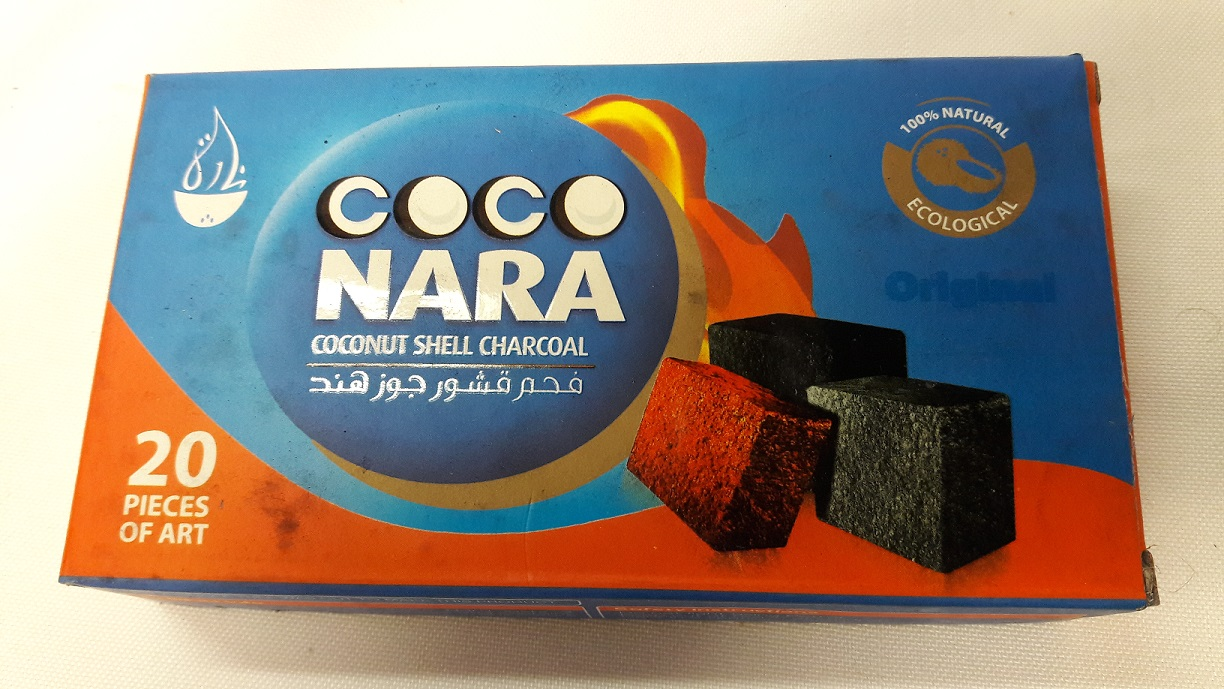 Charcoal-Coco Nara-20 pcs. Coconut shell Charcoal #20CH