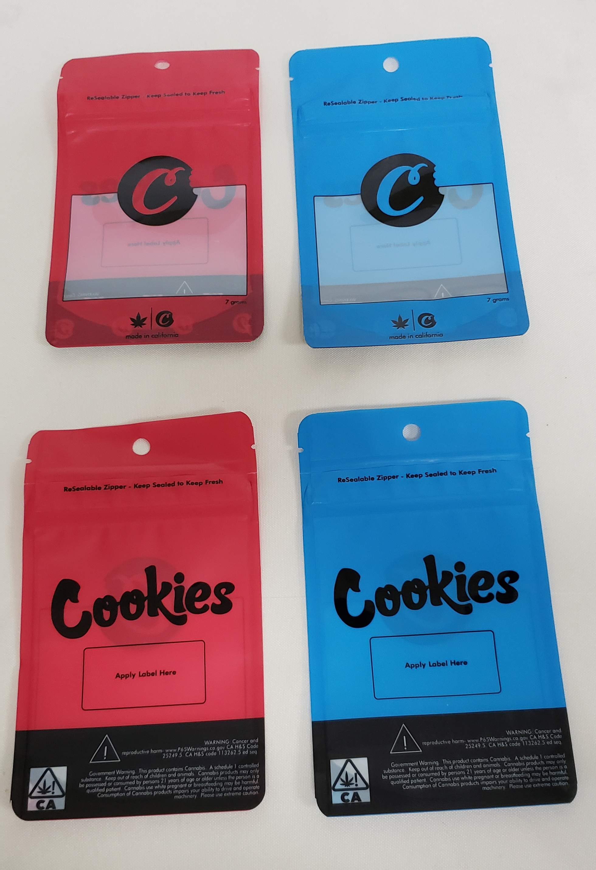 *Baggies-10 Pack Cookies design Big 7 Gm. bags for Storage #Bag4