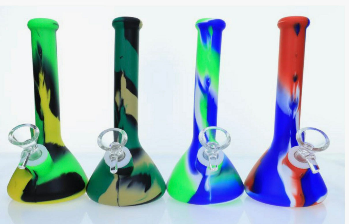 "*8"" Silicone Assorted Water Pipe #8SWP"