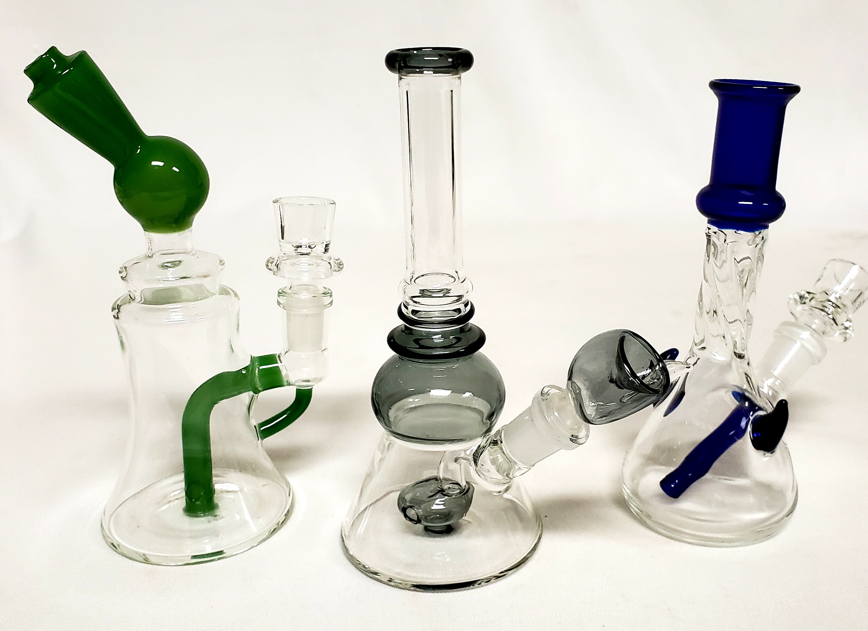*3 pc. Assorted Fancy Perc Water Pipes #3AP1