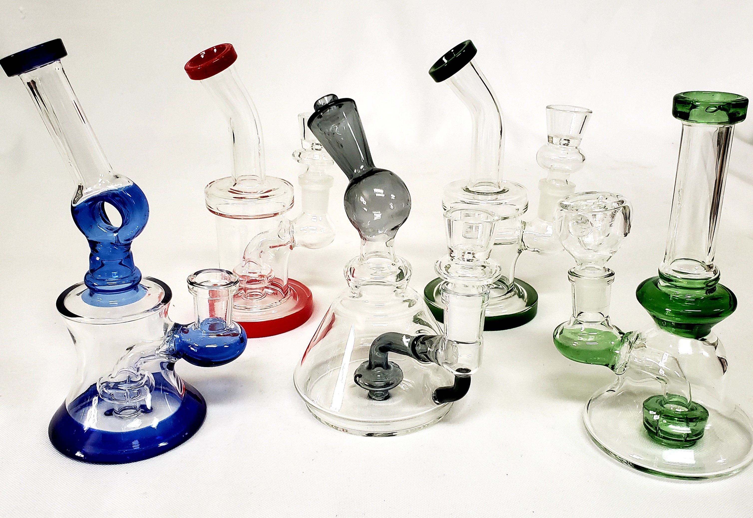 "*6'-7"" Assorted Shower Head Perc Water Pipes #WP61"