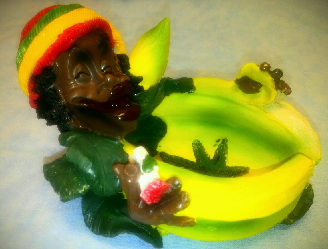 Polyresin Jamaican Ashtray JA14