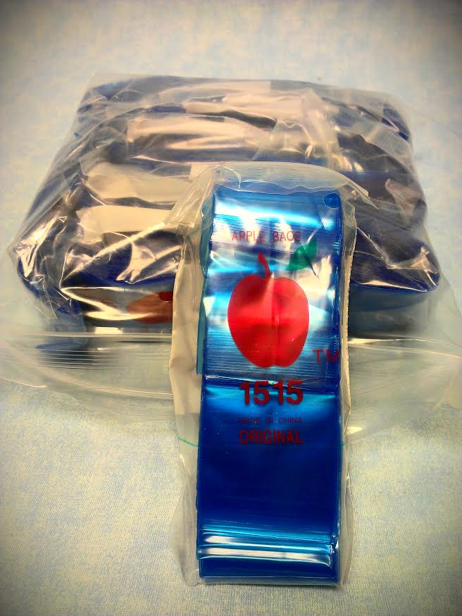 "Blue Apple Mini Zip lock Bags-1000- 1.5"" X 1.5"" #ZB16"