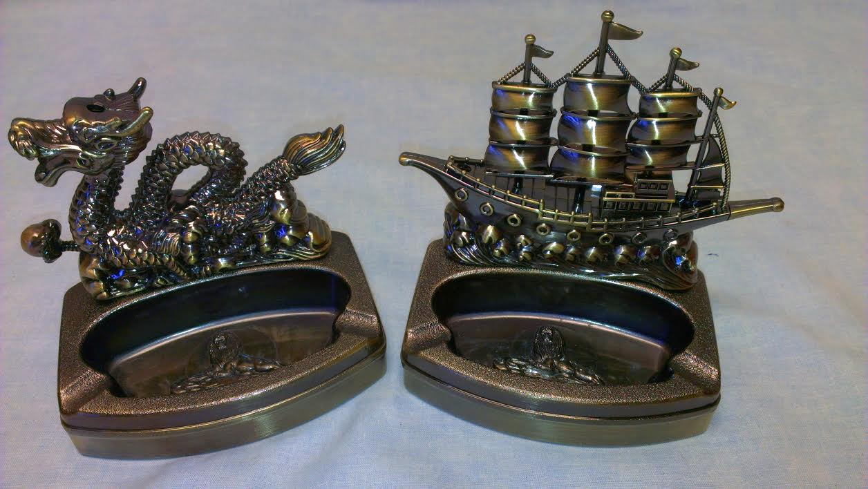 Dragon & Ship Ashtray LA2