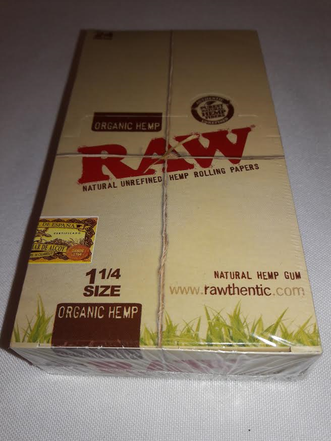 *Cigarette Papers 24ct. Raw Organic Hemp Papers 1 1/4 #RW5