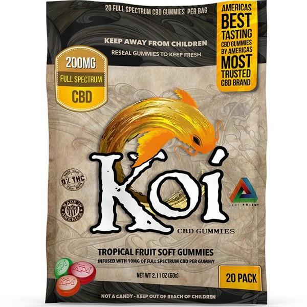 KOI TROPICAL FRUIT GUMMIES 200MG