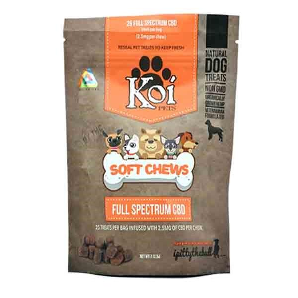 Koi CBD Soft Chews for DOGS(2.0mg per chew) 62.5 mg of CBD #KO1