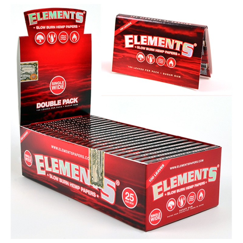 *Ellements Single Wide Papers With Double Pack-25ct. #EL2