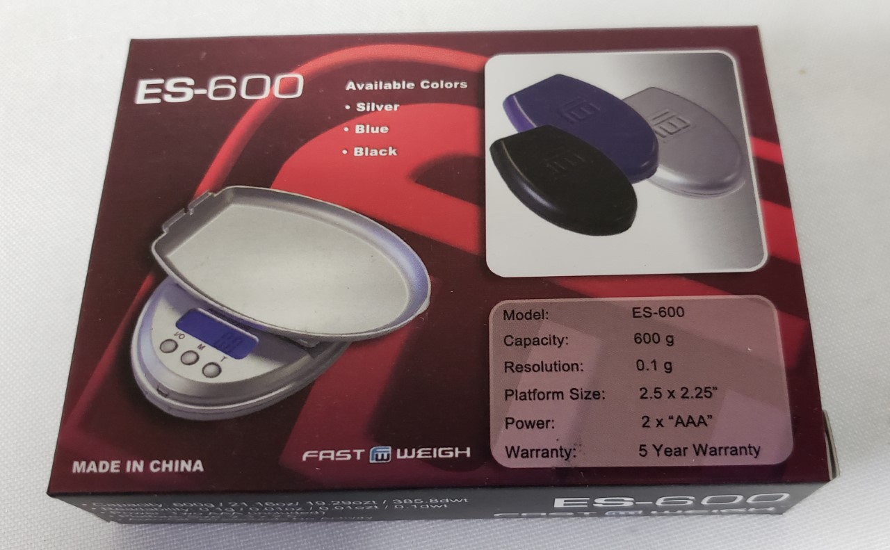 0.1g-600g. Fast Weigh Digital Scale-Black Color ES-600