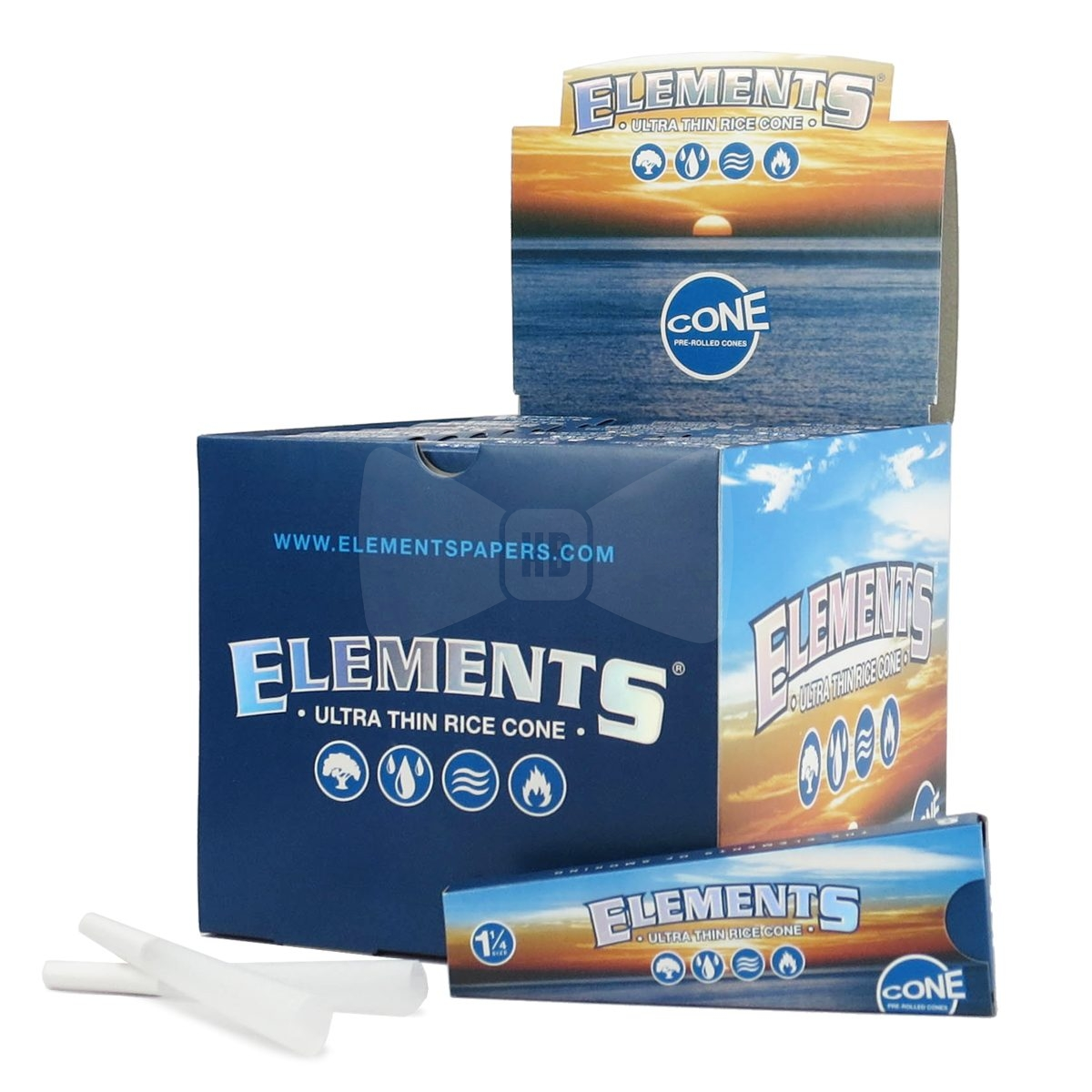 *Elements Pre Roll Cones 30Pack- 1 1/4 size-6 ps.in each #ELC