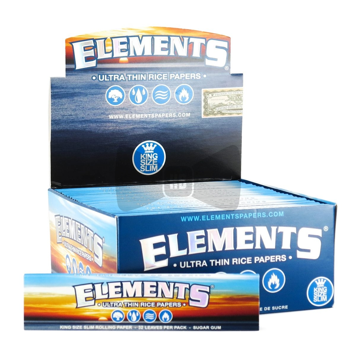 *Elements Ultra Rice 50ct. King size Slim Papers EL4