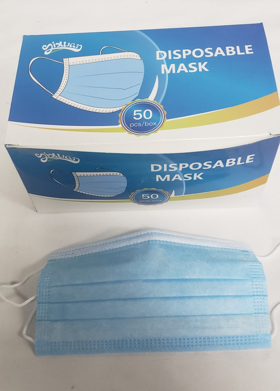 *50 Pc. 3 Ply Disposable Masks FM2