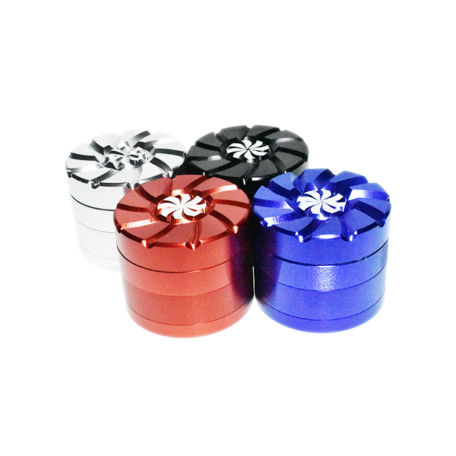 *4 PART 50mm-SMOQ ALUMINIUM METAL GRINDERS #GD9604