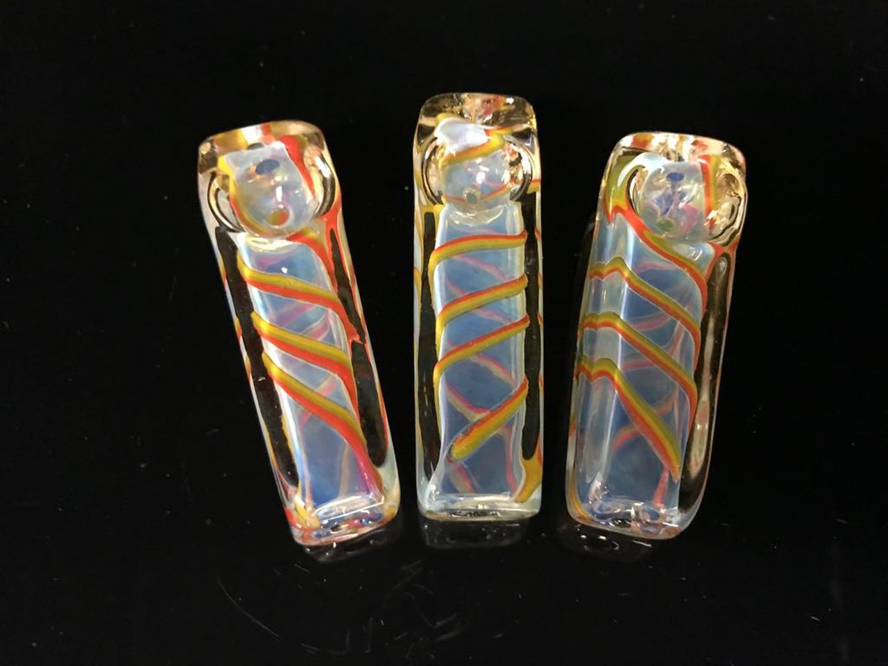 "2.5""-3"" Square shape Fancy-Gold Fumed  Spoon SP11"