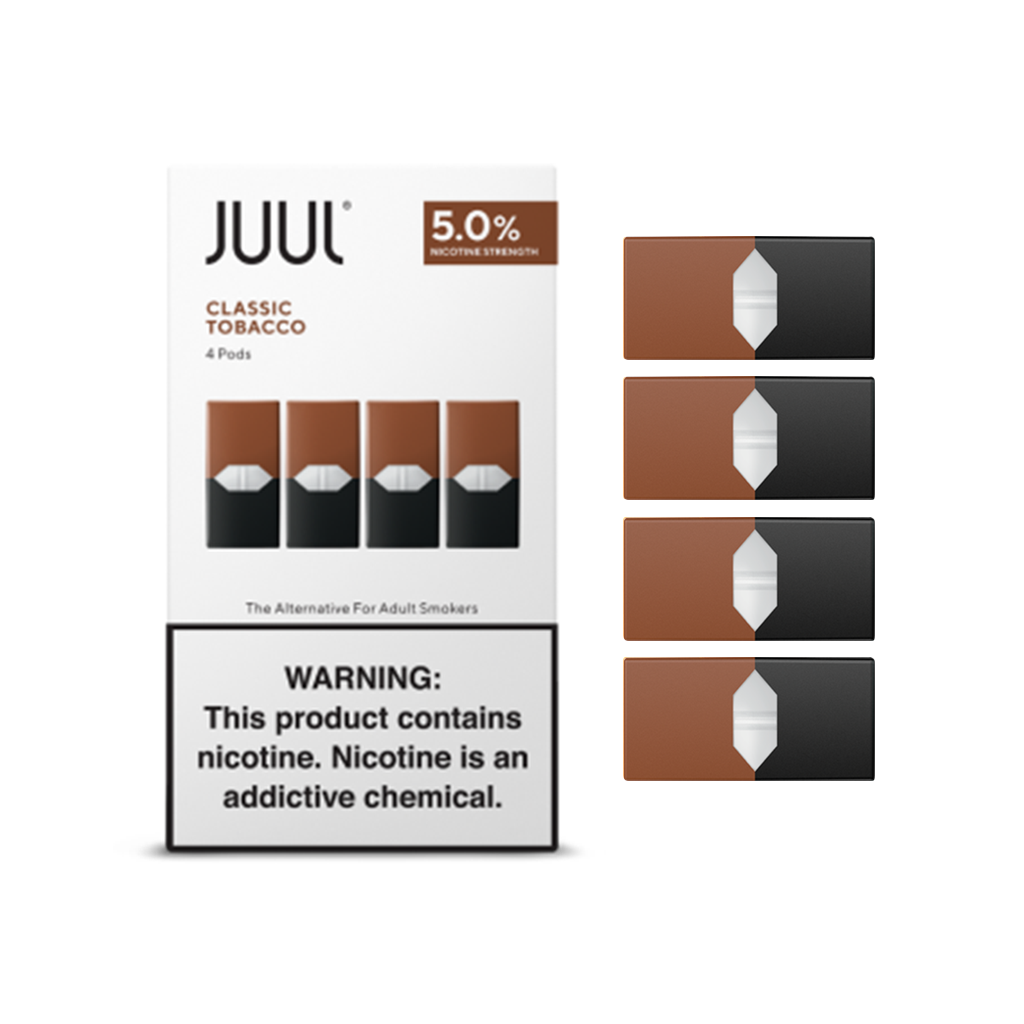 JUUL PRE-FILLED REPLACEMENT 5% NICOTINE SALT PODS #JPOD