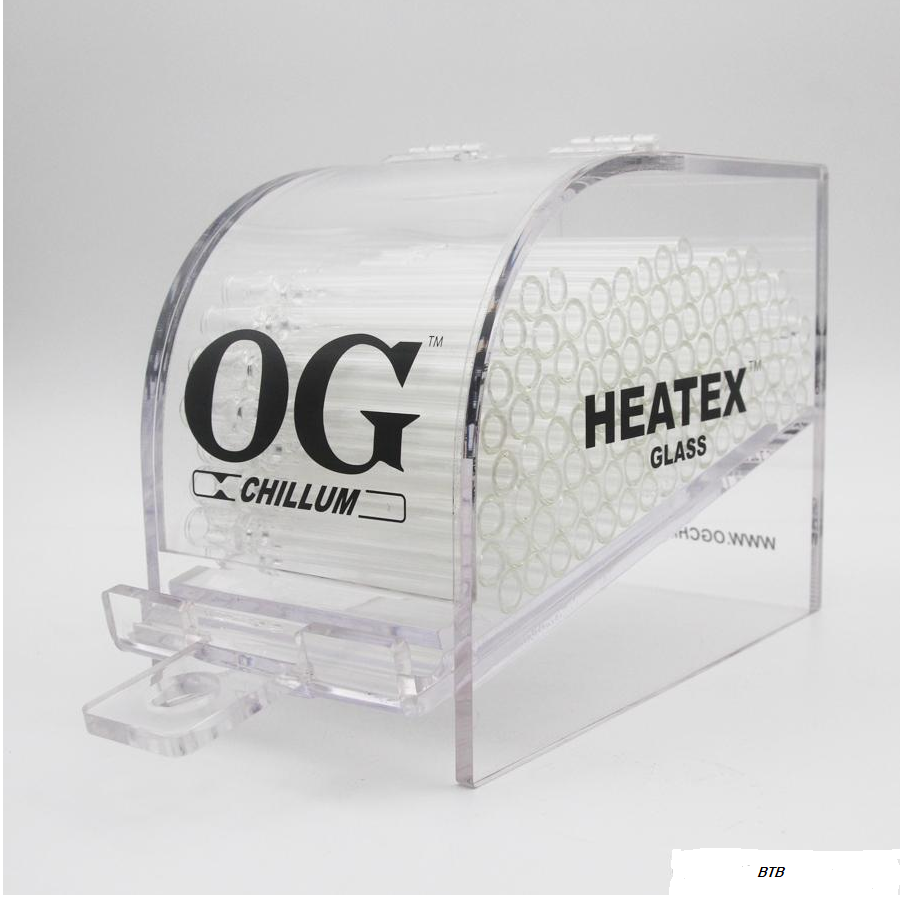 *OG GLASS ONE HITTER PIPE 100 CT ACRYLIC DISPLAY #OG