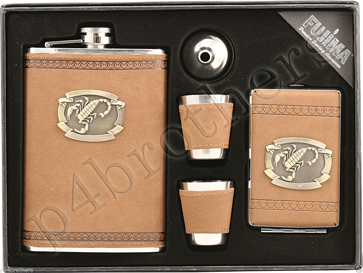 Pocket Flask Gift Set-Set16