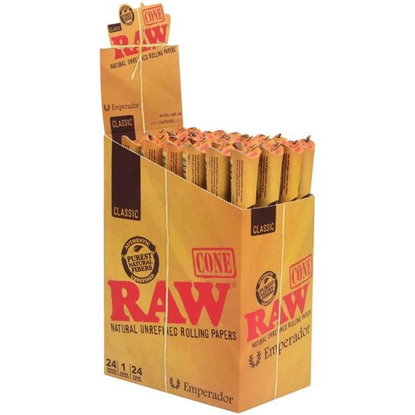 *RAW EMPERADOR CLASSIC CONE 24 PACKS/BOX