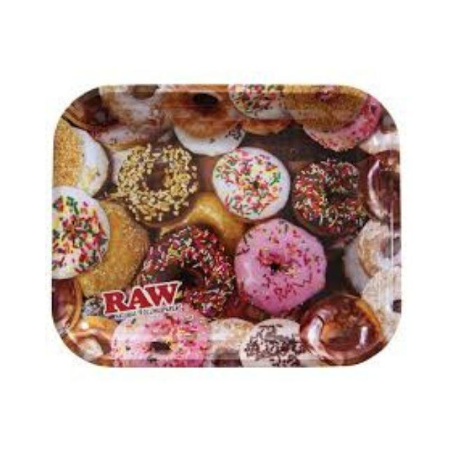 "RAW ROLLING TRAY DONUTS DESIGN LARGE SIZE (LARGE 13.5""X11"")"