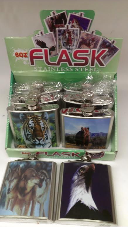 8 ct.-Pocket Flasks wildlife Flasks PFS11