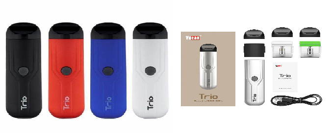 *Yocan Trio 500mAh VV Vaporizer With 3 x Refillable Pods