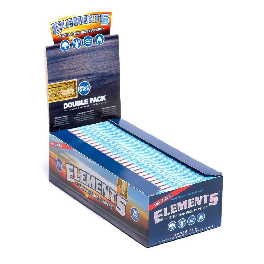 *Ellements Single Wide Papers-Double Pack (25ct-100 Leaves) #ELE