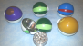 3 Parts-New-55mm Assorted ball shape herb grinder #HG66