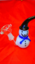 "6"" Snowman Rig Glass Pipe"
