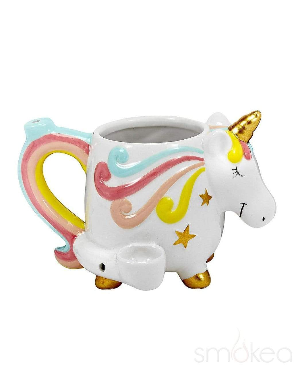 *Mug-Ceramic Unicorn Mug Pipe #UMUG