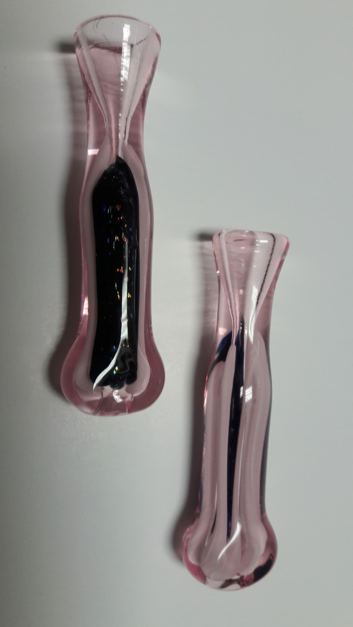 "3.5"" Dicro- pink inside stripe chillum #DR10"