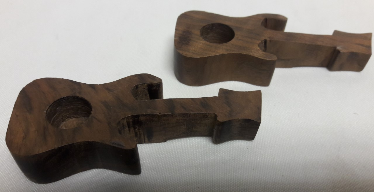 Walnut Wood Guitar Smoking Pipe-WP26