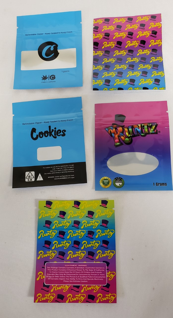 *Baggies-10 Pack-Runtz & Cookies for Storage-1 Gm. #Bag3